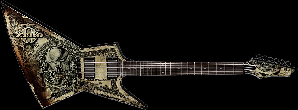 dean dave mustaine zero guitar in deth we trust. Black Bedroom Furniture Sets. Home Design Ideas