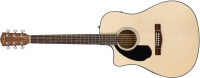 Fender CD-60SCE Dreadnought Left Handed Acoustic / Electric Guitar - Natural (0961706021)