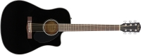 Fender CD-60SCE Dreadnought Acoustic Guitar - Black (CD60SCEBLK)
