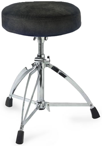 Stagg Round Cloth-Covered Seat Heavy Dbl. Braced Drum Throne (CID-DT220RC)
