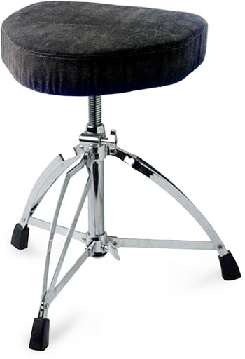Stagg Cycle Cloth-Covered Seat Heavy Dbl. Braced Drum Throne (CID-DT220RCM)