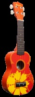 Amahi Orange Flower Soprano Ukulele (DDUK5)