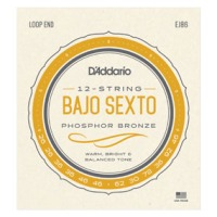 D'Addario J86 Bajo Sexto Strings, Loop End (EJ86)