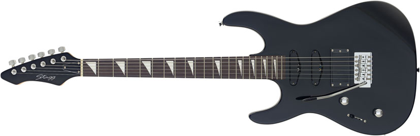 Stagg I300 Heavy ICS Series Left Handed Electric Guitar - Black (I300LHBK)
