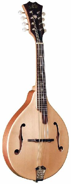 Morgan Monroe Natural A-Style Mandolin with Case (MA1C)