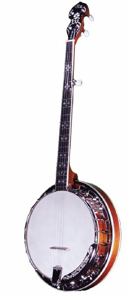Morgan Monroe 24 Bracket Lefty Standard Banjo with Case (MNBL1W)