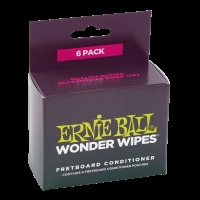 Ernie Ball Wonder Wipes Fretboard Conditioner 6 Pack (P04276)
