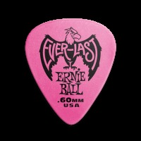 Ernie Ball Everlast Guitar Picks - .60mm Pink (P09179)