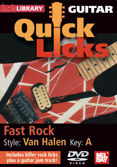 Guitar Quick Licks - Van Halen Style, Fast Rock Key of A  DVD (RDR0247)
