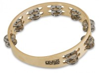 "Toca Player's Wood Tambourine, 10"" Double Row (T1010)"