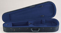Toshira Super-Valu Shapped Violin Case Black & Blue (TC66)