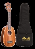 Amahi Soprano Mahogany With White Binding Pineapple Ukulele w/ Deluxe Bag (UK217PN)