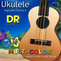 DR Strings MultiColor Soprano / Concert Ukulele Strings (UMCSC)