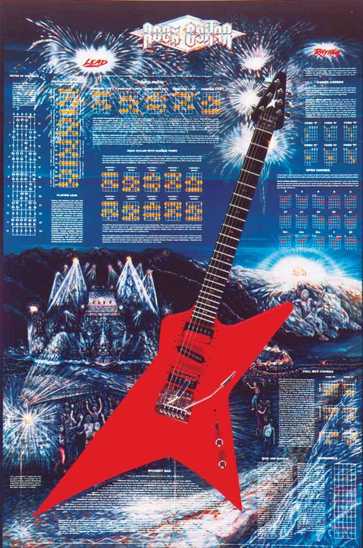 Castalia Rock Guitar Poster