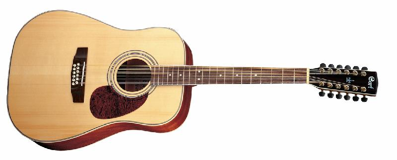 cort earth series 200 12 string acoustic guitar w solid spruce. Black Bedroom Furniture Sets. Home Design Ideas