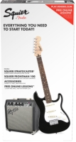 Squier Strat® SS Electric Guitar Pack (Short-Scale) - Black (0301812006)