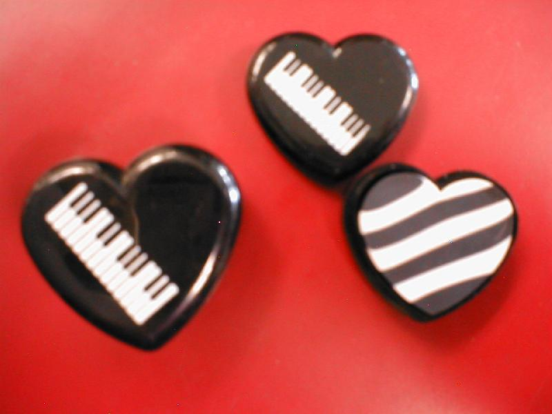 Keyboard Heart Pencil Eraser (06501S)