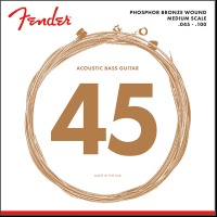 Fender Acoustic Bass Strings, Phosphor Bronze, .45-.100 (0737060400)
