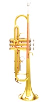 Opus Corsair Gold Lacquer Trumpet Outfit with Rose Brass Leadpipe (500LR)
