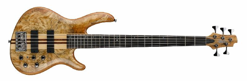 Cort Artisan Series A5 Custom Spalted Maple 5 String Bass Guitar N Natur (A5CUSTOMSPNAT)