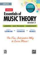 Alfred's Essentials of Music Theory: Software, Version 3 CD-ROM Student Version, Complete Volume (ALF34627)