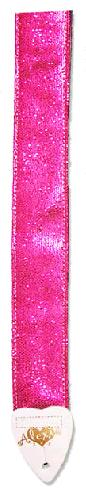 "Alexis 2"" Glitter Pink Guitar Strap For Girls (ALGP)"