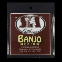 SIT 5-String Banjo Medium Stainless Steel Loop End Light 10 - 24 (B51024)