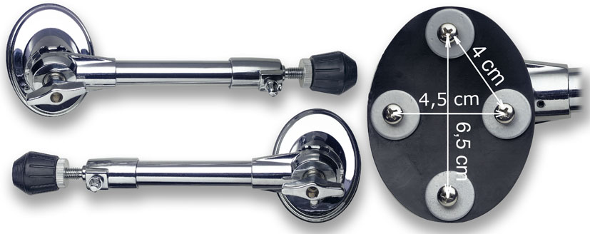 Stagg Bass Drum Spur Set - Pro Oval (BDS502)