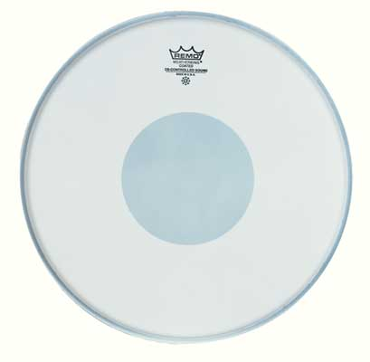 "Remo® Coated White Emperor 14"" Snare Drumhead with Reverse Dot (BE011410)"