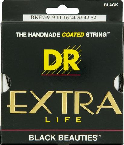 DR Extra-Life Black Coated Heavy Electric Guitar Strings 11-50 (BKE11)