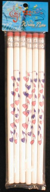Heart Note Pencils 6 Pack (CID-06103S)