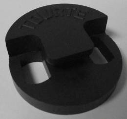 Knilling Round Tourte Style Rubber Double Hole Bass Mute (CID-1328TM)