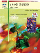 A Month Of Sundays - Christmas Arr.Sanborn  Advanced Piano w/CD (CID-23212)
