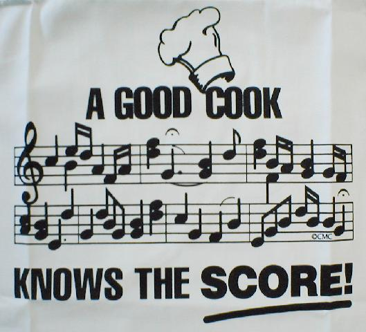 Kitchen Towel - A Good Cook Knows The Score (CID-3050)