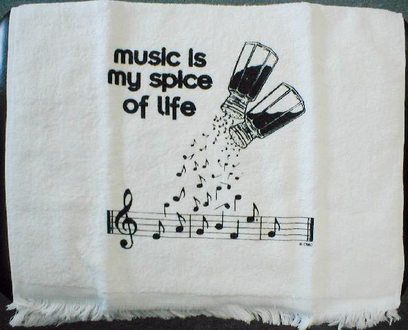 Kitchen Towel - Music Is My Spice Of Life (CID-3058)