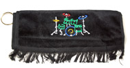 Instrument Towel - Drum Golf Style with Grommet Black (CID-4603)