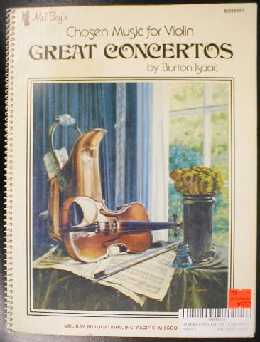 Chosen Music For Violin Great Concertos  - Violin (CID-93650)