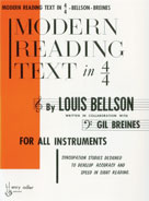 Modern Reading Text In 4/4 For All Instruments - Louis Bellson (CID-HAB00003)