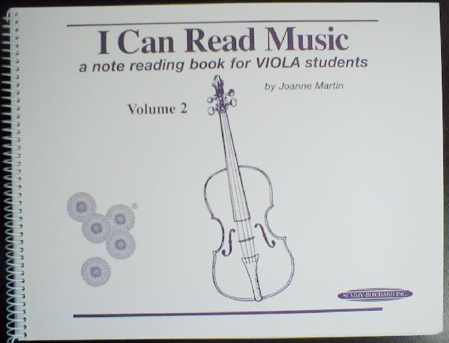 I Can Read Music, A Note Reading Book for Viola Students (CID-ICRMVLA)