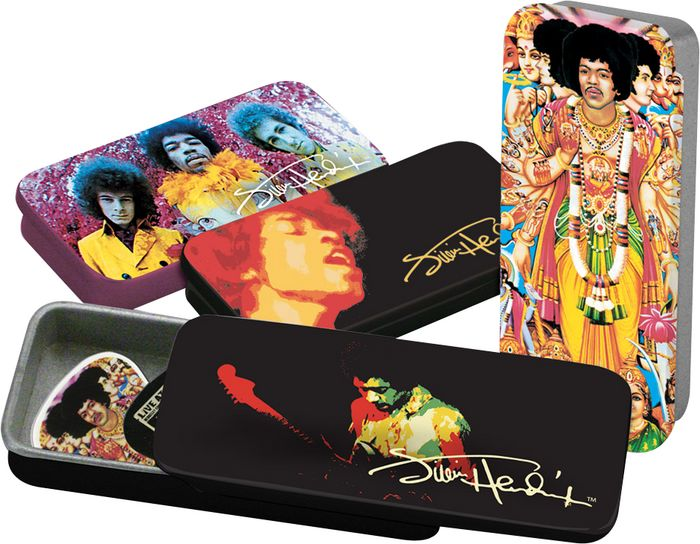 Jimi Hendrix Collector Pick Tins Album Art Picks 12 Pack (CID-JHPT)