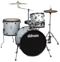 ddrum D2R 4 Piece Drum Set Includes Cymbals and Hardware - Silver Sparkle (D2RSLVRSPKL)