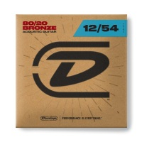 Dunlop 80/20 Bronze Acoustic Gguitar Strings 12-54 (DAB1254)