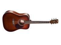 Cort Earth70 Dreadnought Acoustic Guitar w/ Solid Spruce Trans Brown (EARTH70BR)