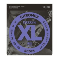 D'Addario Chromes Jazz Light Flatwound Strings 11-50 (ECG24)