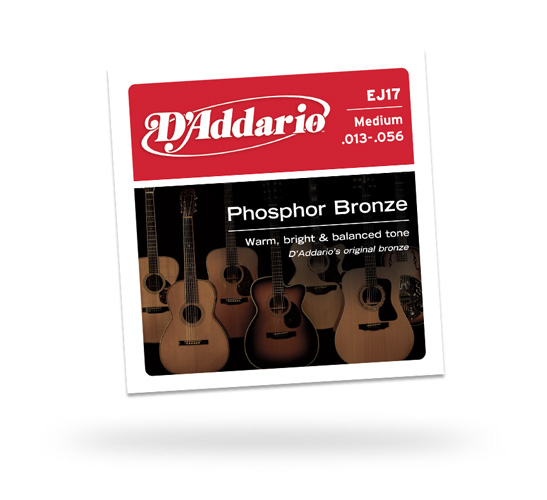 D'Addario EJ17-3D Medium Acoustic String Pack, 3 sets (EJ173D)