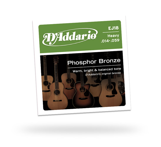 D'Addario EJ-18 Heavy Acoustic Phosphor Bronze Guitar Strings (EJ18)