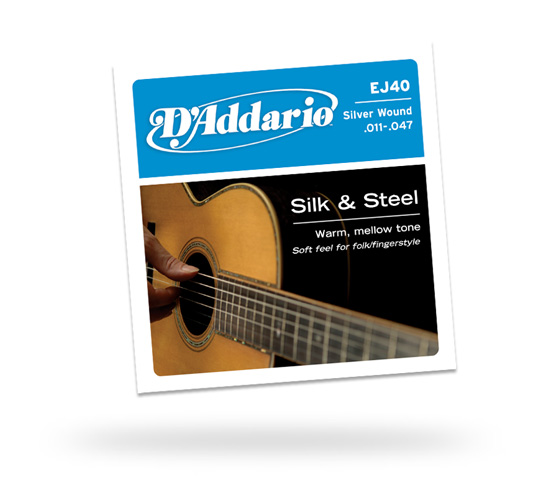 D'Addario EJ40 Silk and Steel Guitar String Set 11 – 47 (EJ40)