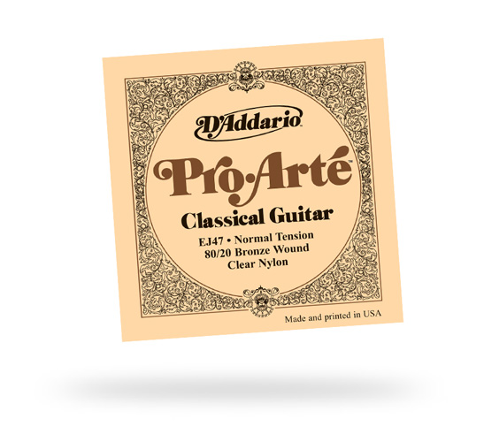 D'Addario EJ47 Pro Arte Clear & Bronze Normal Tension Strings (EJ47)