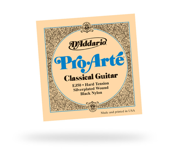 D'Addario EJ50 Pro Arte Black & Silver Hard Tension Classical Strings (EJ50)