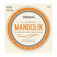 D'Addario EJ74 Mandolin Strings, Phosphor Bronze, Medium, 11-40 (EJ74)